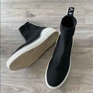 GIVENCHY George V Black Knit Sock Sneakers
